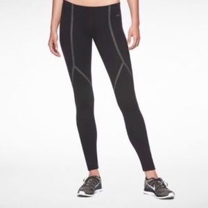 Nike Luxe Running Tights, Black/Reflective EUC